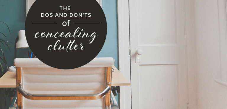 How To Conceal Clutter Before A Showing